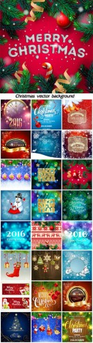 Christmas decoration on vector background