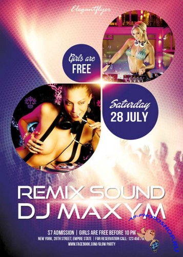 Remix Sound Flyer Template + Facebook Cover