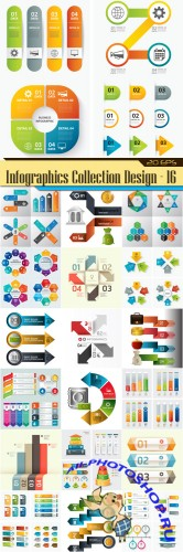 Infographics design element Collection - 16