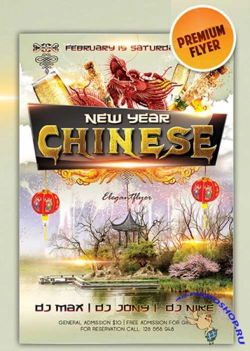 Chinese New Year 4 flyer Template