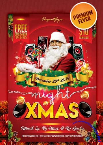 XMAS night flyer Template