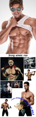 Strong athletic man
