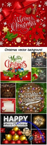 Glittering Christmas vector backgrounds