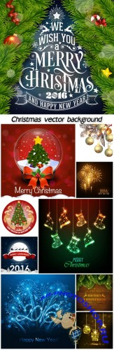 Vector set of Christmas, Christmas tree, Christmas balls