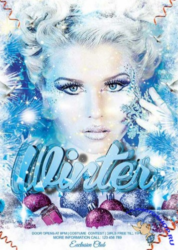 Winter Bash Premium Flyer Template + Facebook Cover