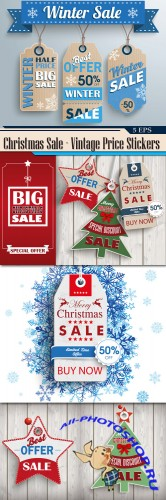 Christmas Sale - Vintage Price Stickers