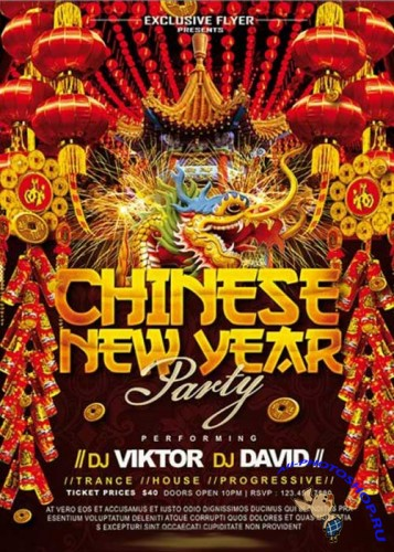 2016 New Year Chinese Premium Flyer Template