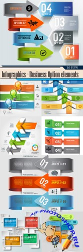 Infographics - Business Option elements
