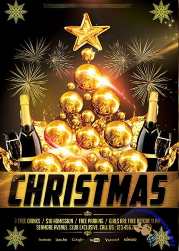 Christmas V8 Premium Flyer Template + Facebook Cover