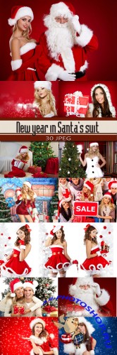 New year in Santa's suit