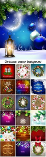 Christmas vector backgrounds with beautiful decorations