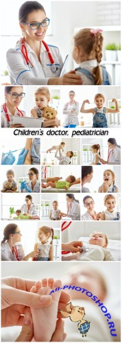 Children's doctor, pediatrician and children