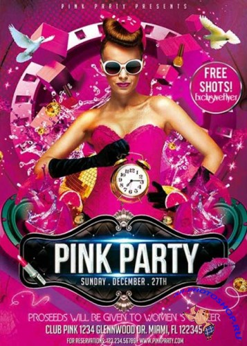 Pink Party Premium Flyer Template