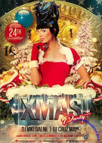 Xmas Party V1 Premium Flyer Template