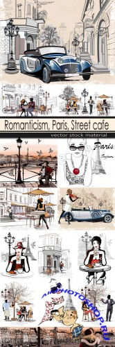 Romanticism, Paris, Street cafe