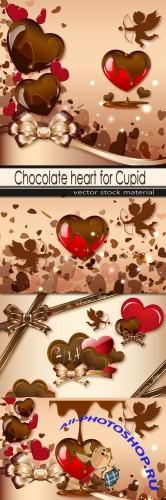 Chocolate heart for Cupid