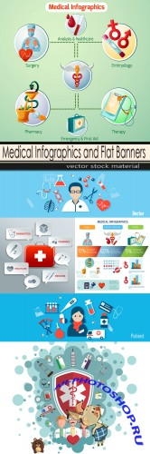 Medical Infographics and Flat Banners