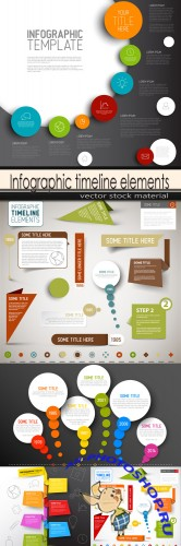 Infographic timeline elements