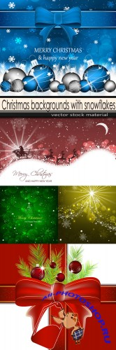 Christmas backgrounds with snowflakes