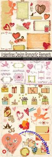Valentines Design Romantic Elements