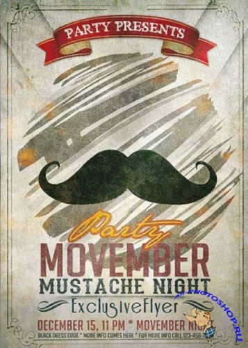 Movember Party Premium Flyer Template