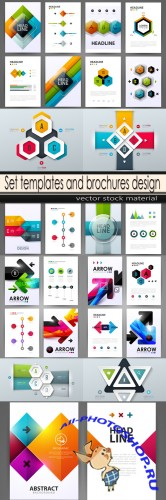 Set templates and brochures design