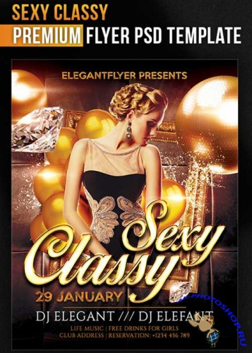 Sexy Classy Flyer PSD Template + Facebook Cover