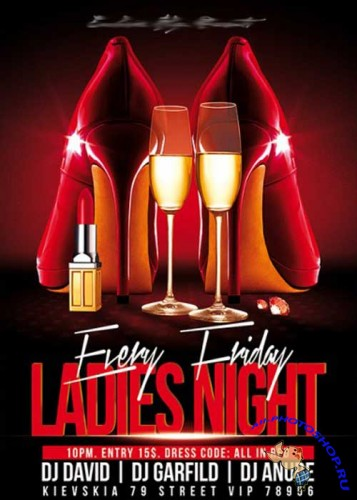 Ladies Night Vol.2 Premium Flyer Template + Facebook Cover