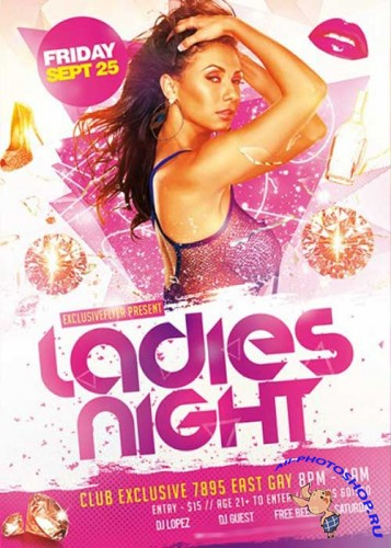 Ladies Night Vol.3 Premium Flyer Template + Facebook Cover