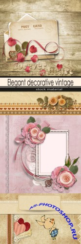 Elegant decorative vintage background