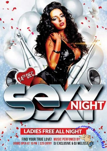 Sexy Night Premium Flyer Template + Facebook Cover