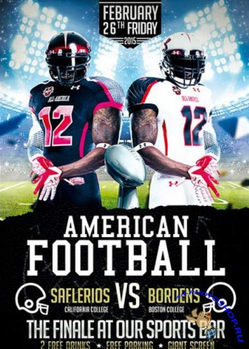 American Football Premium Flyer Template