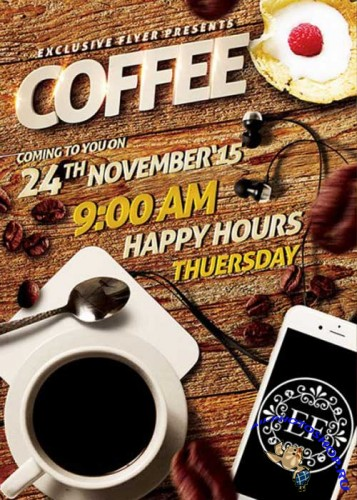 Coffee Flyer Premium Flyer Template + Facebook Cover
