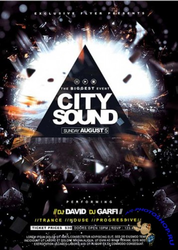 City Sound Premium Flyer Template + Facebook Cover