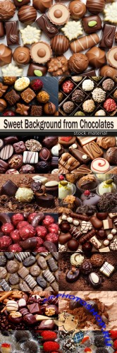 Sweet Background from Chocolates