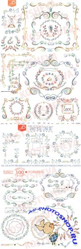 Handsketched designer Bundle Vector - Creativemarket 152979