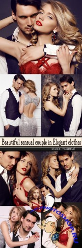 Beautiful sensual couple in Elegant clothes