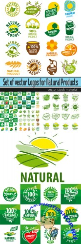 Set of vector Logos for Natural Products