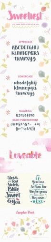 Swettiest Font - Creativemarket 478440