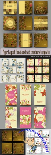 Flyer Layout floral abstract brochure template vector