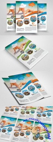 Tour Travel Agency Flyer Template - Creativemarket 552392