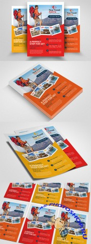 Tour Travel Agency Flyer Template - Creativemarket 552389