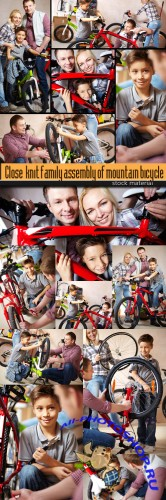 Close-knit family assembly of mountain bicycle