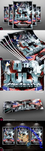Independence Day Flyer Template - Creativemarket 91035
