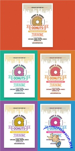 Donuts poster template - Creativemarket 168085