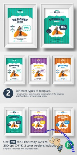 New shoes promo template - Creativemarket 56635