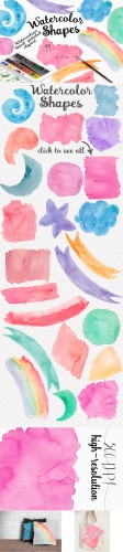 Watercolor Shapes Collection - Creativemarket 558118