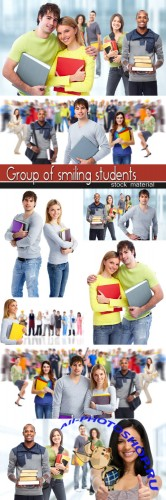Group of smiling students