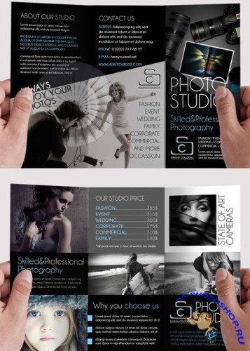 Photographer Tri-Fold PSD Brochure Template