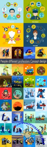 People different professions Concept design